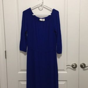 Chico's Blue Dress 3/4 sleeve ankle length size 1